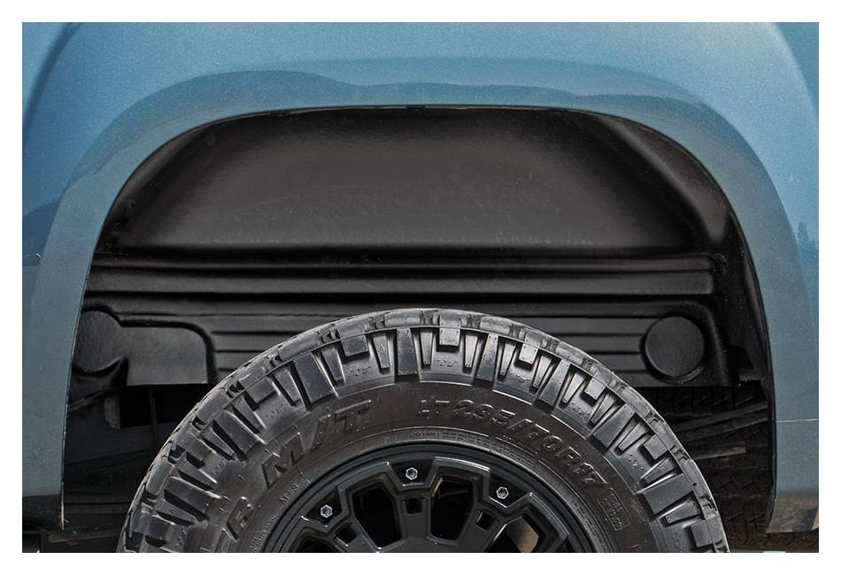 Fender Liner Material : Rough country rear wheel well liners gmc sierra