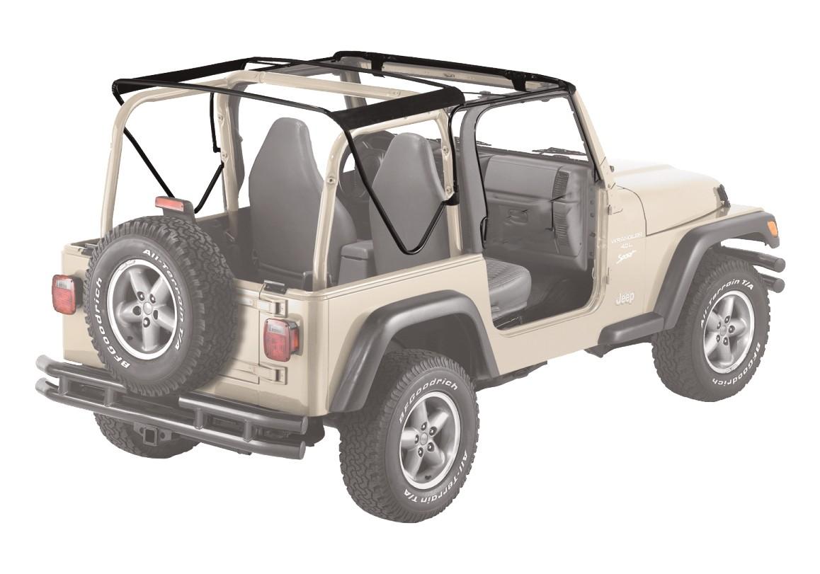Bestop 55002-01 Jeep Soft Top Hardware Kit OE Style Black